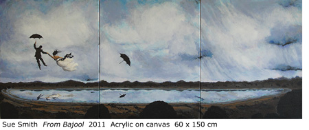"Sue Smith ""From Bajool"" 2011 Acrylic on canvas 60 x 150 cm"
