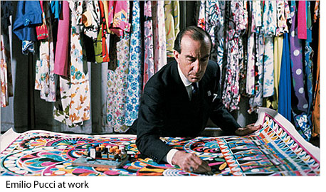 Emilio Pucci at work