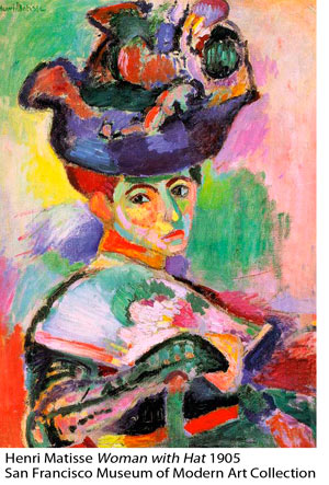 Henri Matisse: Woman with Hat 1905, San Francisco Museum of Modern Art