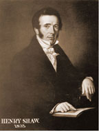 Photo of a portrait of Henry Shaw, founder of the Missouri Botanical Gardens