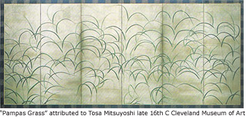 """Pampas Grass"" attributed to Tosa Mitsuyoshi Circa late 16th C. Cleveland Museum of Art"