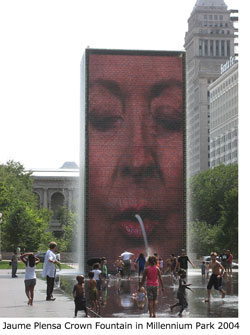 Jaume Plensa Crown Fountain in Millennium Park 2004