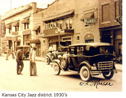 Kansas City Jazz district 1930's