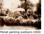 Claude Monet - Painting outdoors in the garden