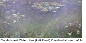 Claude Monet Water Lilies (Left panel) Cleveland Museum of Art