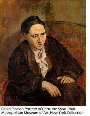 Pablo Picasso: Portrait of Gertrude Stein 1906, Metropolitan Museum of Art, NY