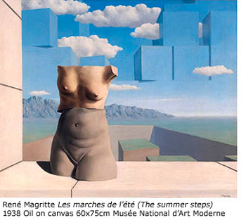 "Rene' Magritte ""The Summer Steps"" 1938 Musee National d'Art Moderns"