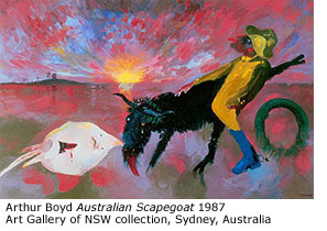 Arthur Boyd Australian Scapegoat 1987 Art Gallery of NSW collection