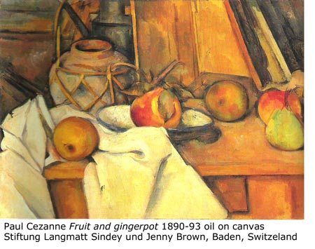 "Paul Cezanne ""Fruit and gingerpot"" 1890-93"