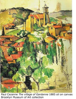 Paul Cezanne &quot;The village of Gardanne&quot; 1885-86