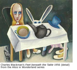 "Charles Blackman ""Feet beneath the table"" detail"