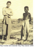 Ray Crooke and Island Boy, St Paul's Mission, Moa Is 1949