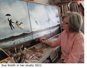 Sue Smith in her studio 2011