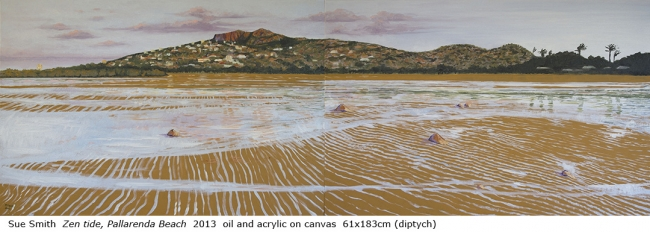 Australian artist Sue Smith - Zen tide, Pallarenda Beach