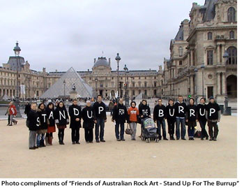 Stand up for the Burrup group photo at the Louvre