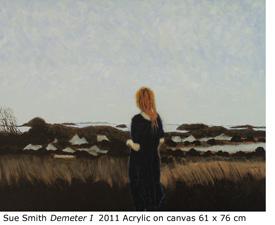 "Sue Smith ""Demeter I""  2011 Acrylic on canvas 61 x 76 cm"