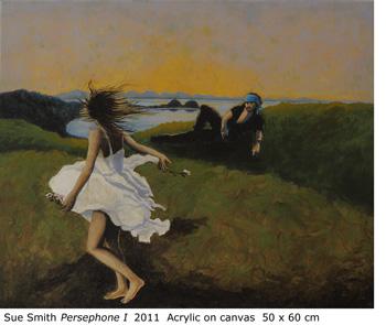 "Sue Smith ""Persephone 1"" 2011 Acrylic on canvas 50 x 60 cm"