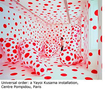 Universal order: a Yayoi Kusama installation, Centre Pompidou, Paris