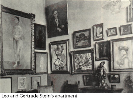 Leo and Gertrude Stein's apartment