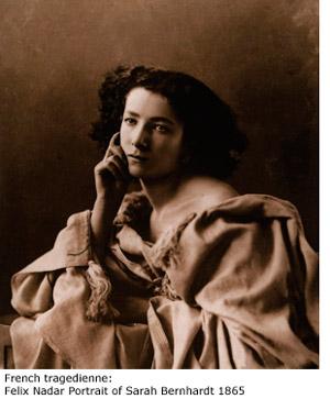 French tragedienne:  Felix Nadar Portrait of Sarah Bernhardt 1865