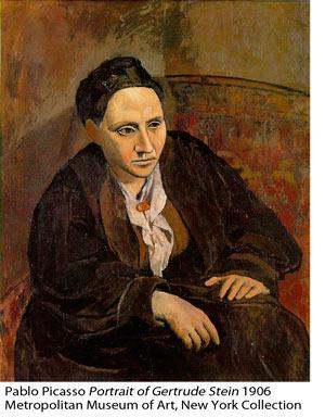 Pablo Picasso: Portrait of Gertrude Stein 1906, Metropolitan Museum of Art, NY