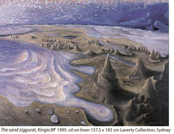 The snad ziggurat, Kingscliff 1995 Laverty collection