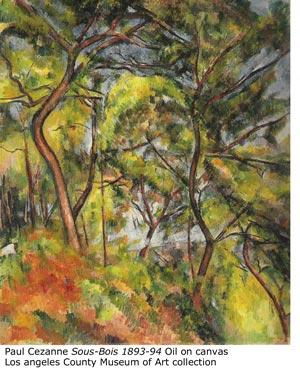 """Paul Cezanne """"Sous-bois 1893-94"""""""