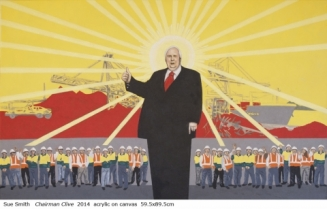 Australian artist Sue Smith - Chairman Clive