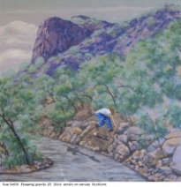 Australian artist Sue Smith - Escaping gravity III